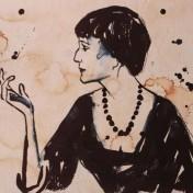Портрет Анны Ахматовой работы Анастасии Чуприной
